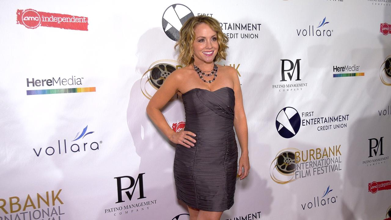 Kelly Stables attends the 13th annual Burbank Intl Film Festival Closing Night Awards Gala red carpet