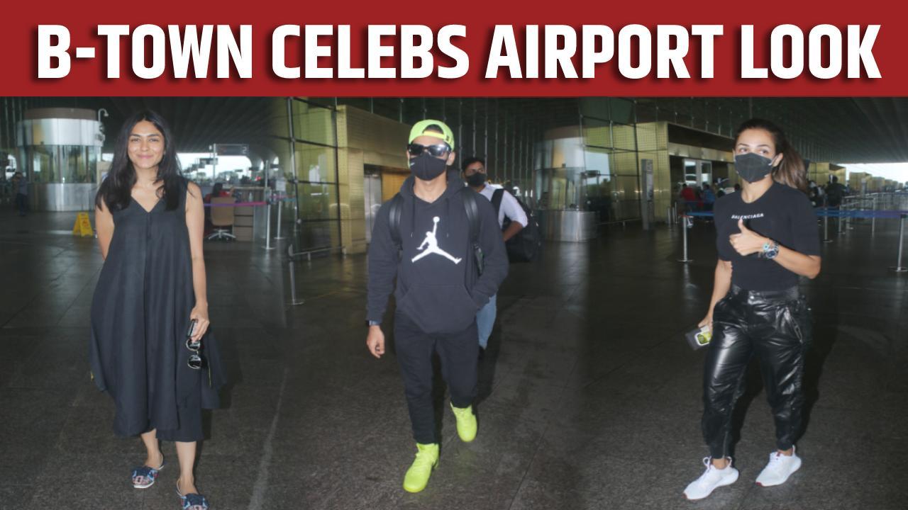 Malaika, Ishaan, Mrunal and other celebs slay the airport look