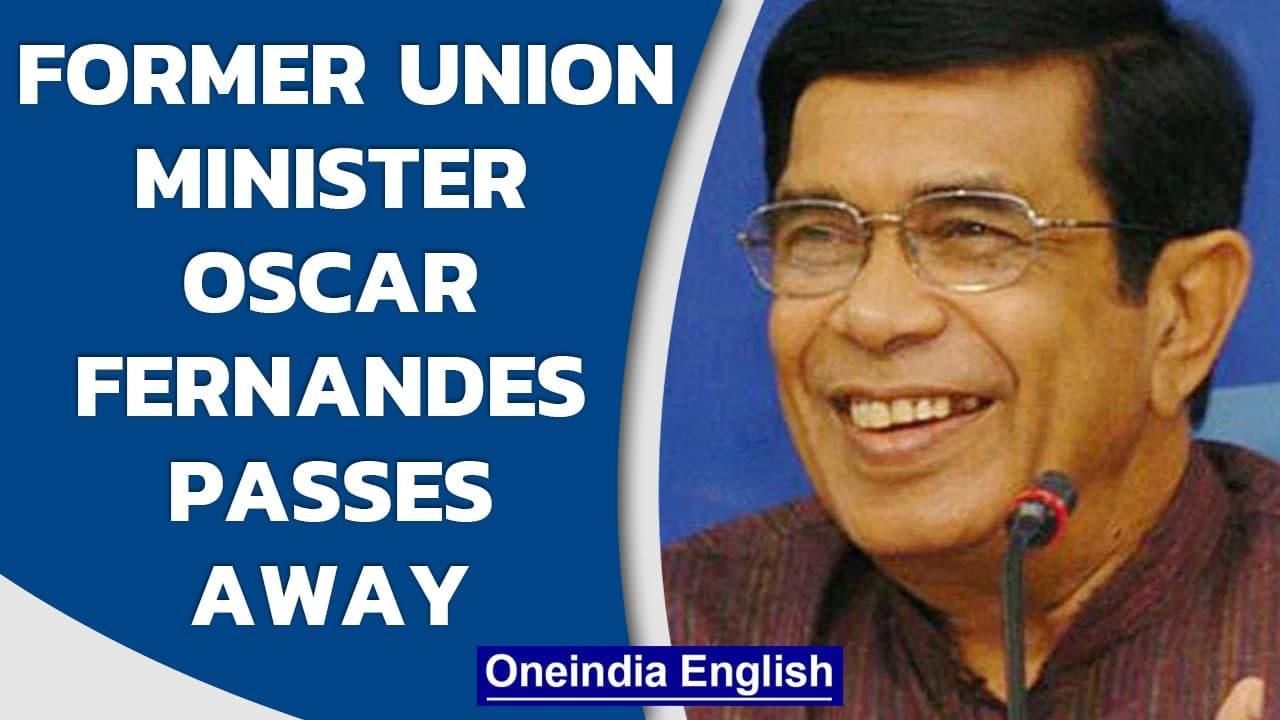 Veteran Congress leader Oscar Fernandes passes away, PM Modi convey condolences | Oneindia News