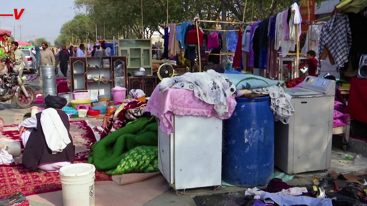 Afghan Residents Sell Household Items on Streets To Make Money Amid Taliban Takeover