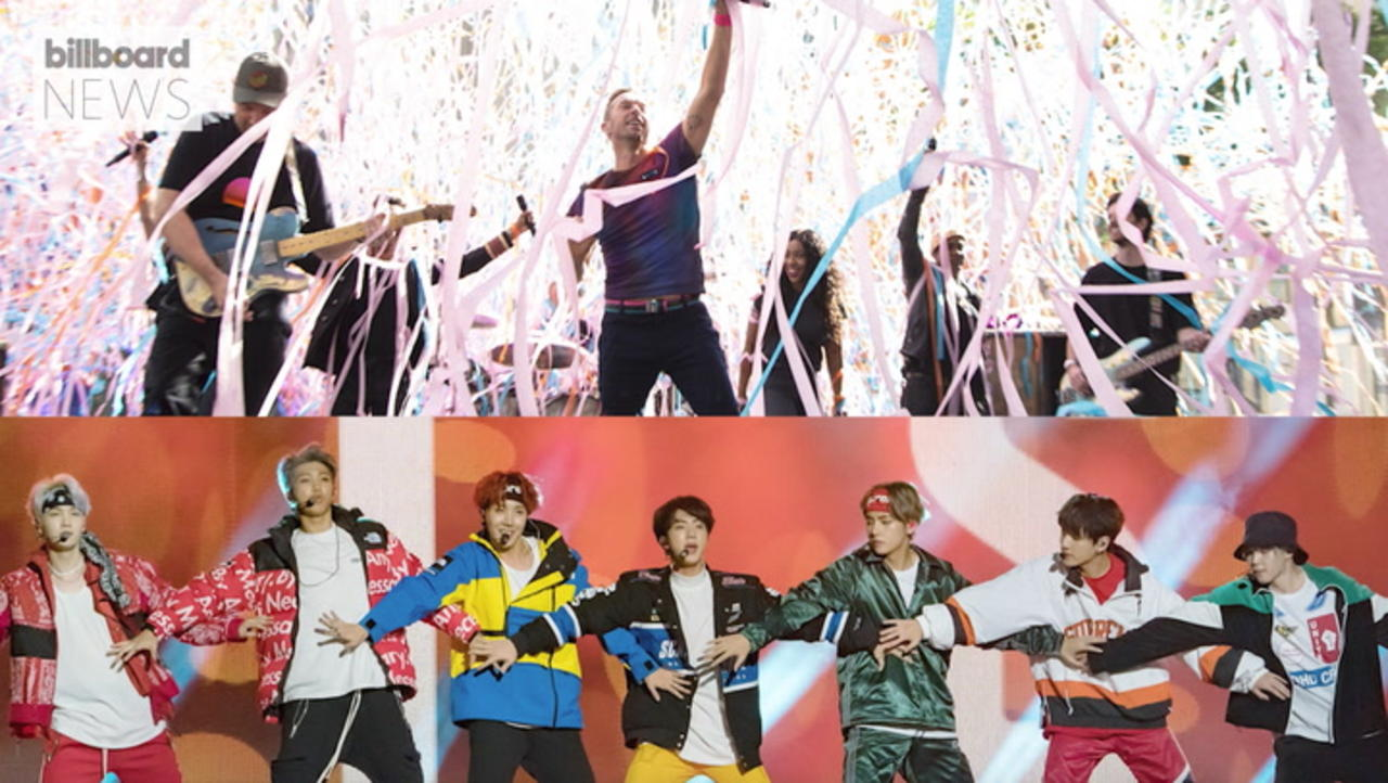 Coldplay and BTS Joining Forces for 'My Universe' Single | Billboard News