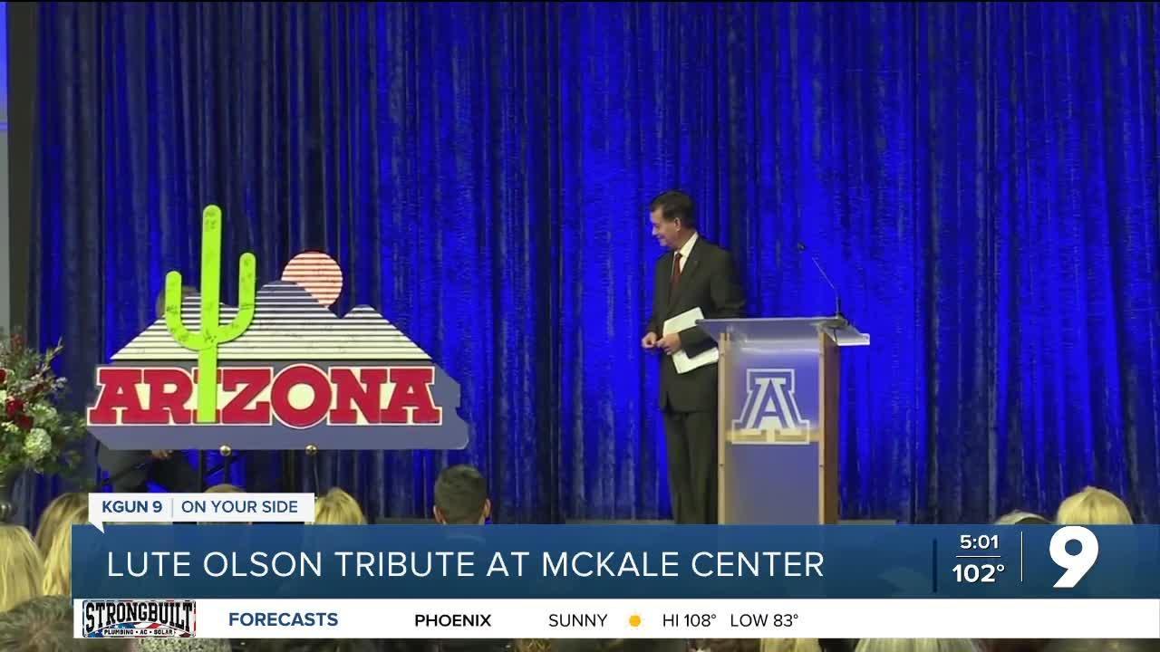 Lute Olson tribute at McKale Center