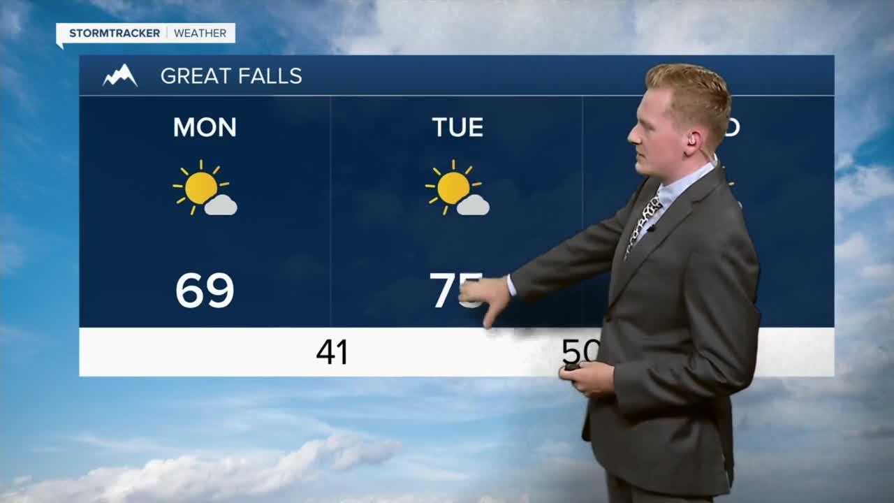 Cooler Monday, Warmer Midweek with Rain Chances Next Weekend