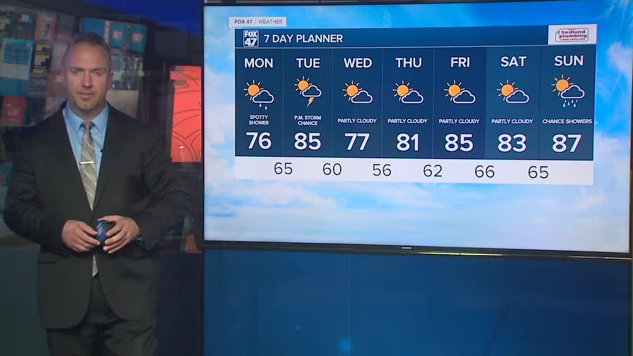 Tonight's Forecast: Mostly cloudy, shower/t-storm chance focused north