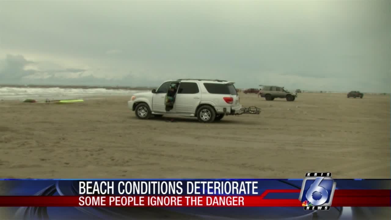Tropical storm Nicholas doesn't stop beachgoers on Mustang Island