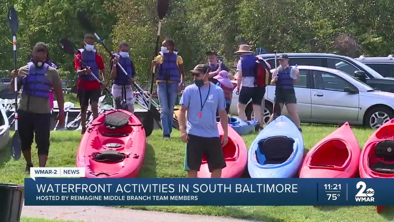 Waterfront activities in South Baltimore