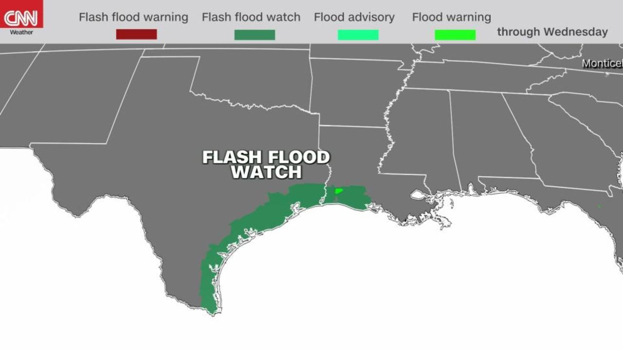 Tropical Storm Nicholas brings flood threat to the Gulf Coast