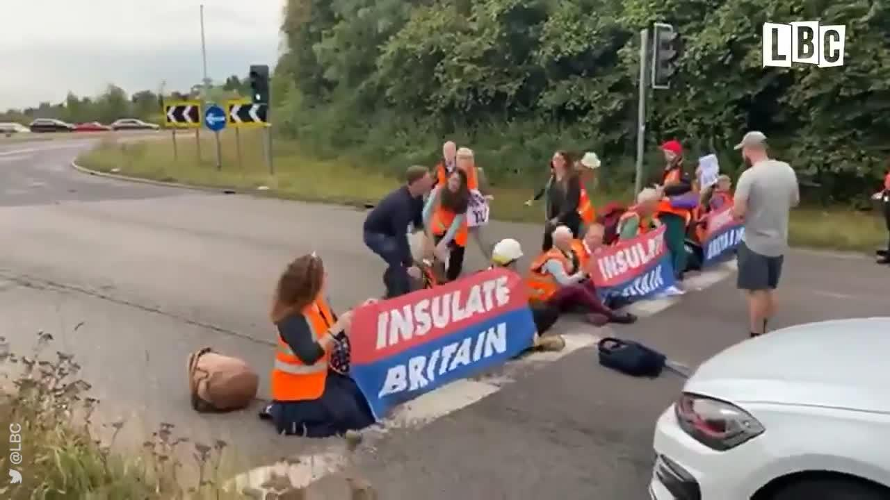 Motorist vents anger at protesters blocking M25