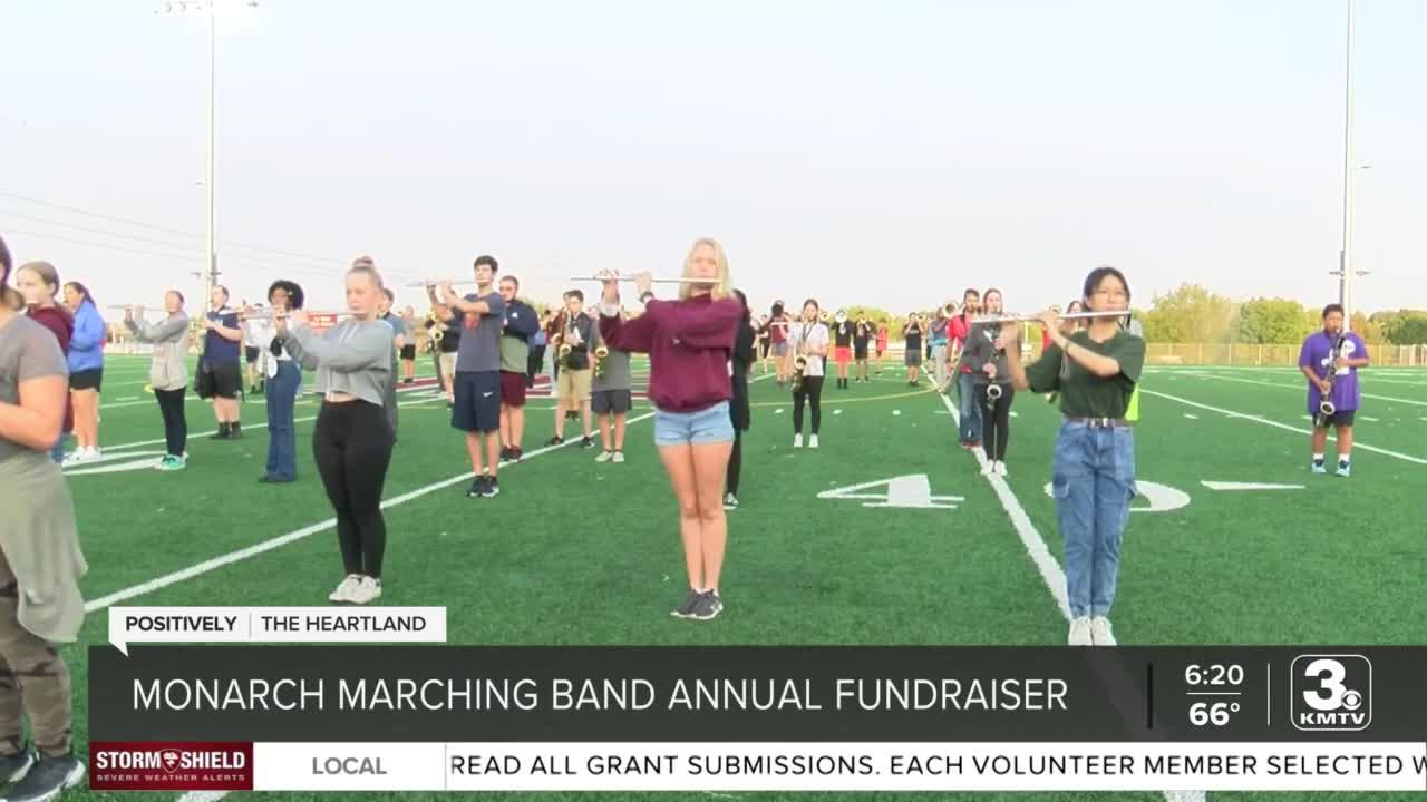 Monarch Marching Band creating smiles while raising money for the team