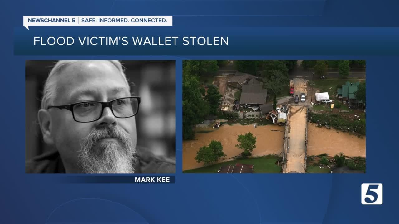 Wallet of Humphreys County flood victim stolen; man charged with theft