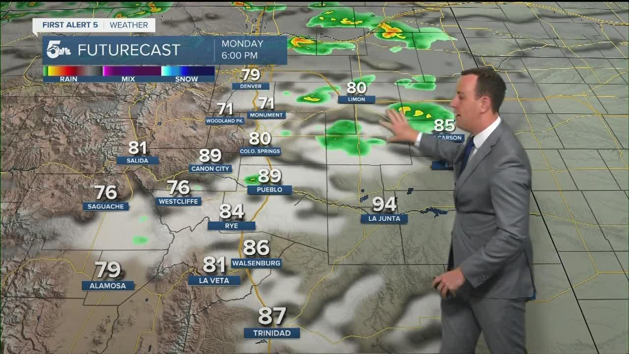 Hot and breezy with a few isolated thunderstorms
