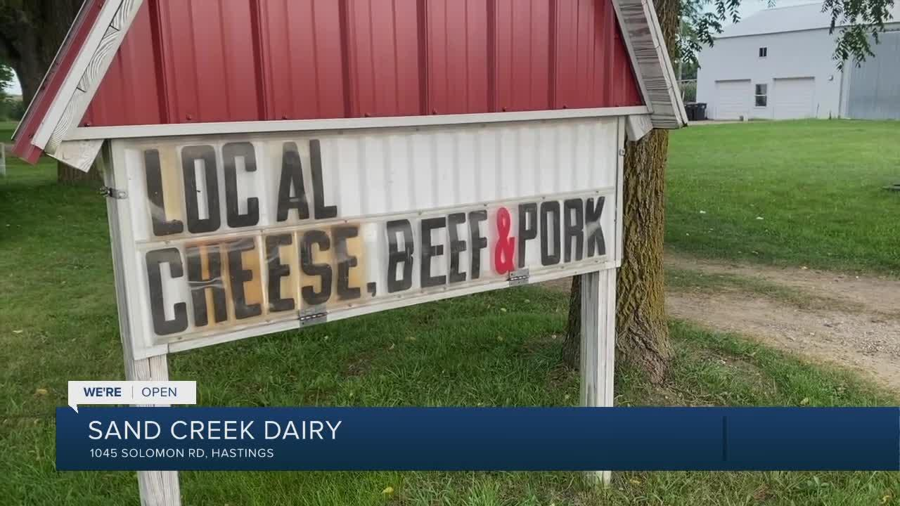We're Open: Sand Creek Dairy store