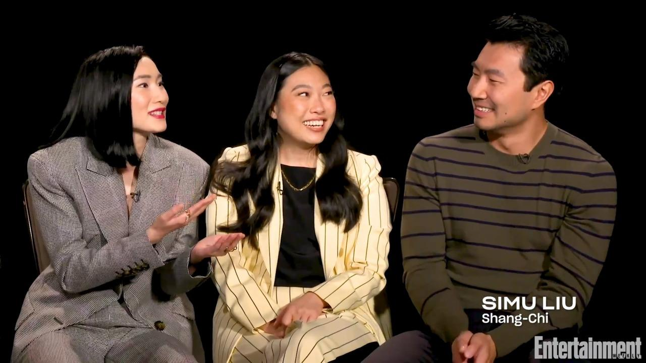 Simu Liu and Awkwafina Surprised 'Shang-Chi' Costar Meng'er Zhang and Her Now-Husband During Production