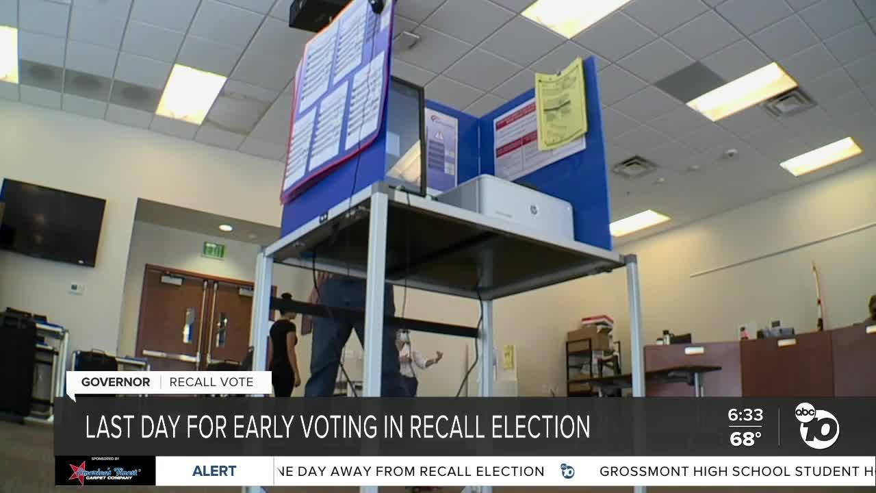 Last day for early voting in recall election