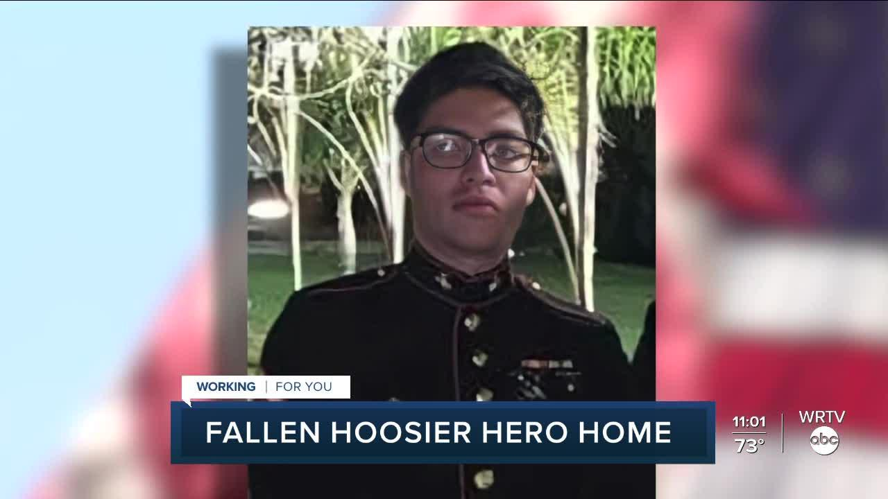 Fallen Hoosier hero returns home