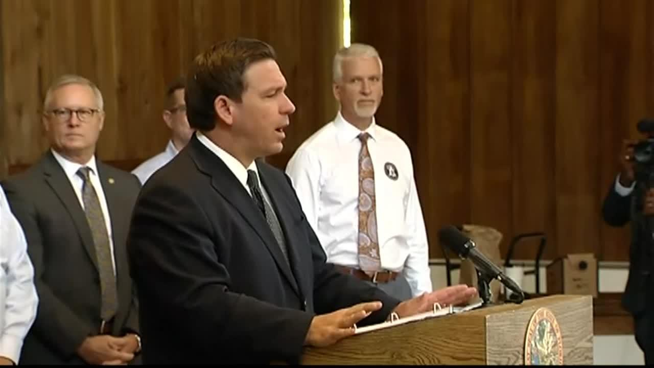 Florida Gov. Ron DeSantis holds news conference in Alachua County