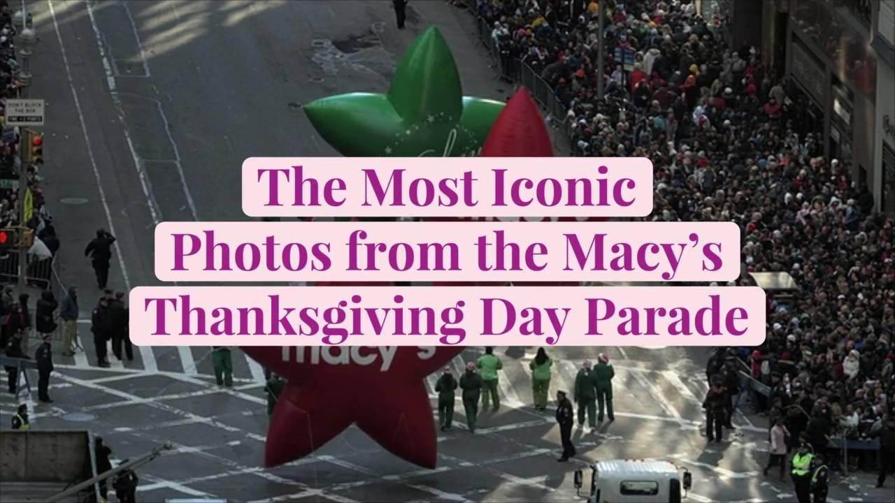 The Most Iconic Photos from the Macy's Thanksgiving Day Parade