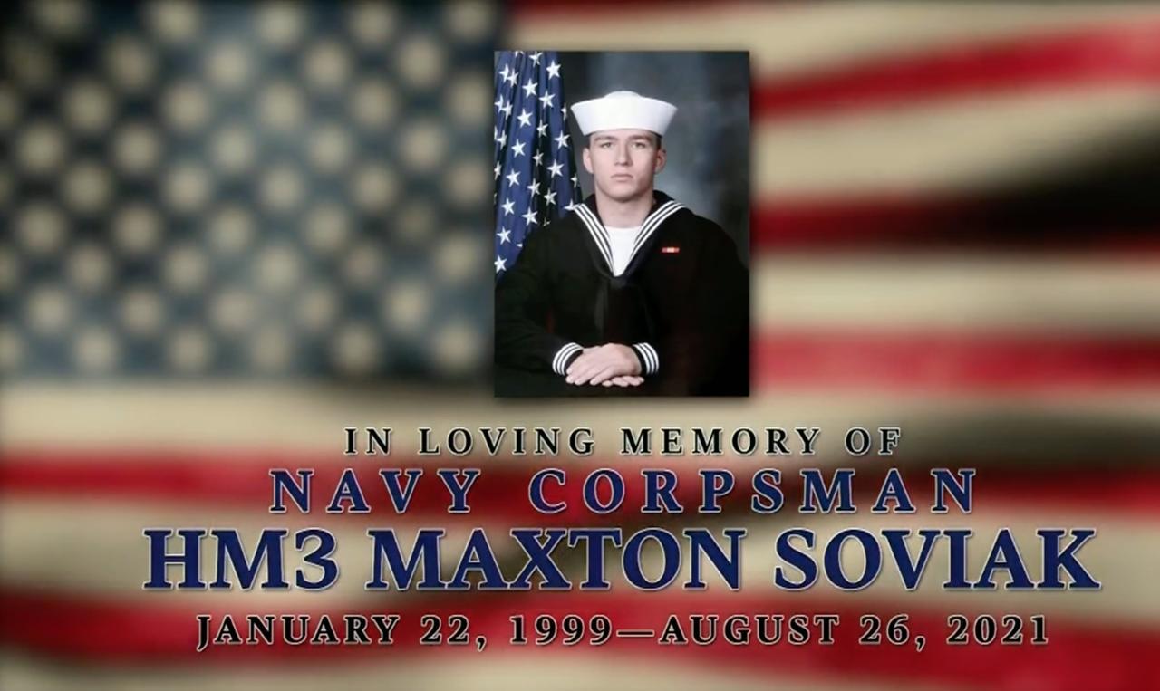 Service held for Maxton Soviak at high school