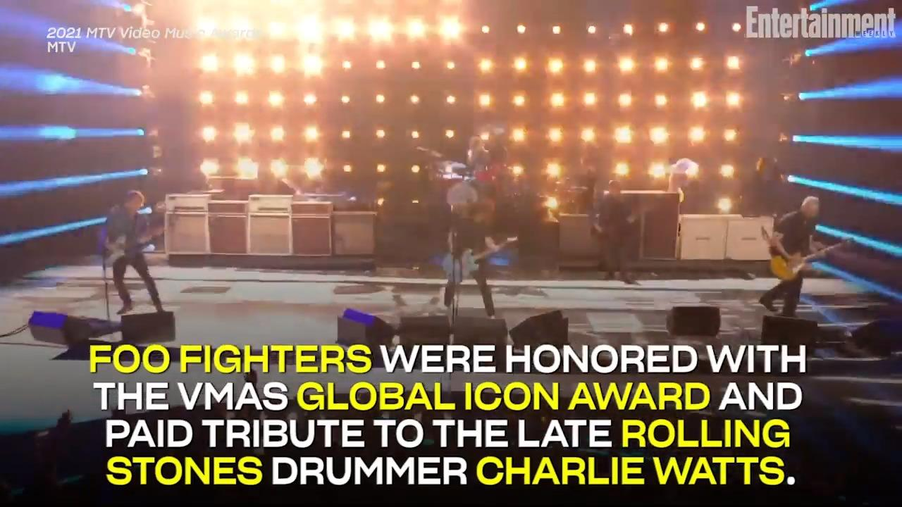Foo Fighters Honored with VMAs Global Icon Award, Pay Tribute to Late Rolling Stones Drummer Charlie Watts