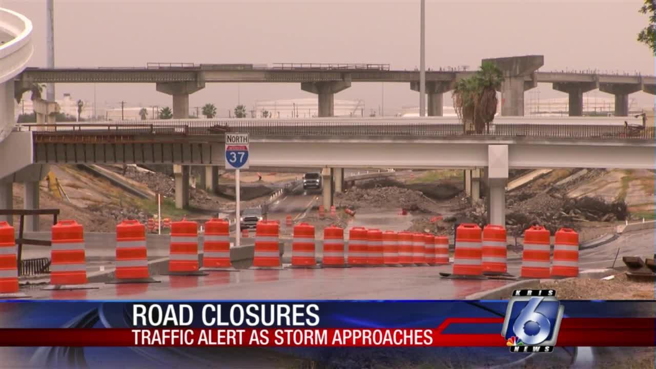 Road closures announced before Nicholas arrives in Corpus Christi
