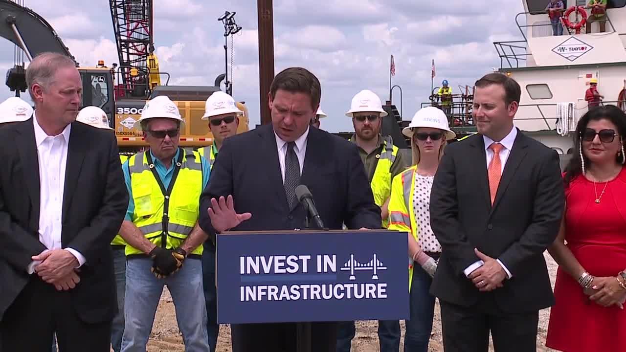 Gov. DeSantis announces 3 major road projects in Tampa Bay Area