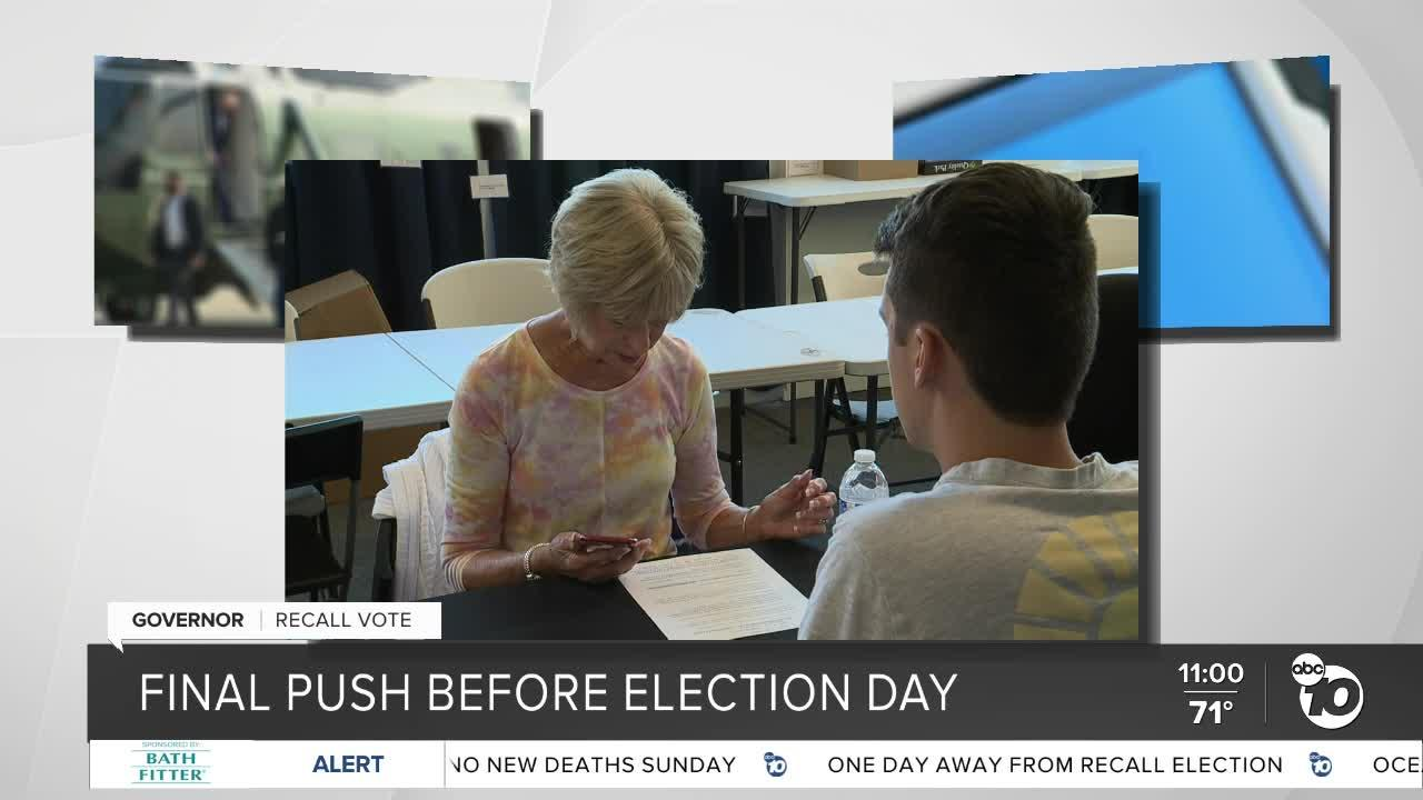 San Diego groups make final push before California's gubernatorial recall election