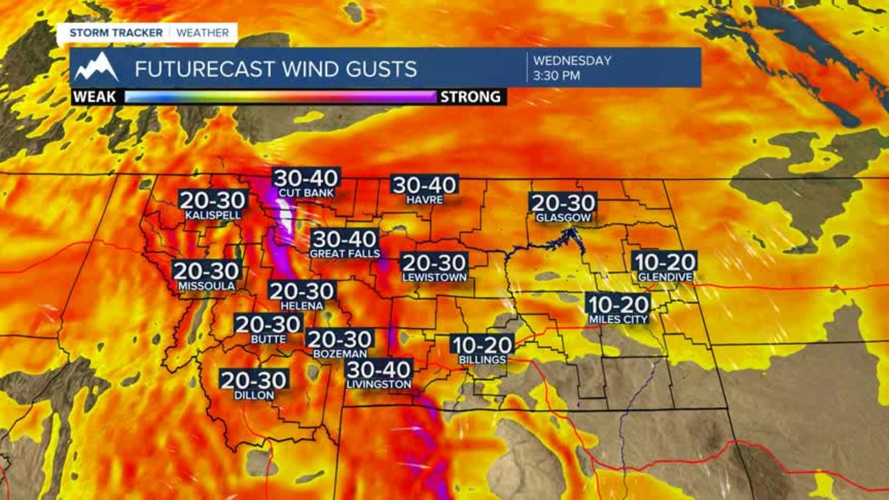 Strong winds likely Wednesday