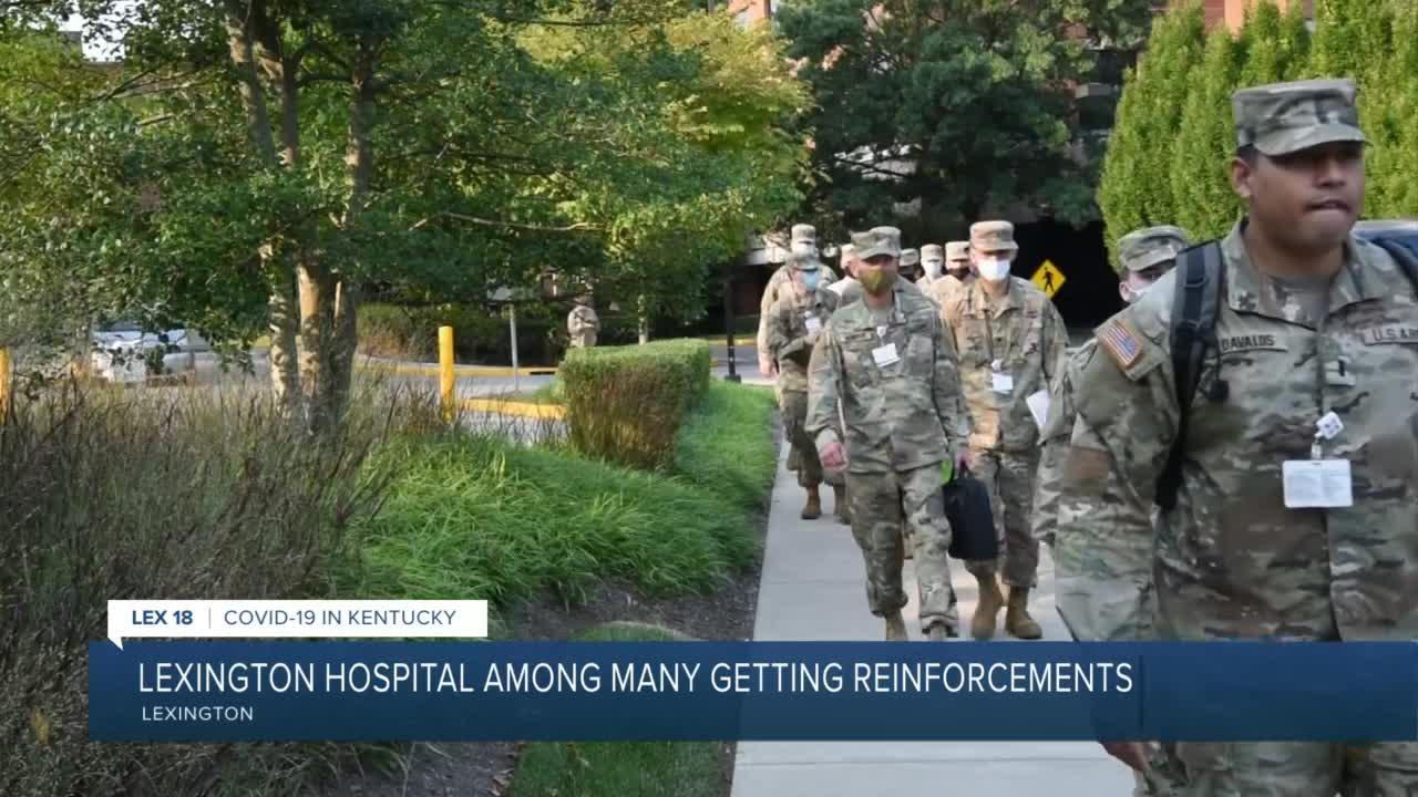 Lexington hospital among many getting reinforcements