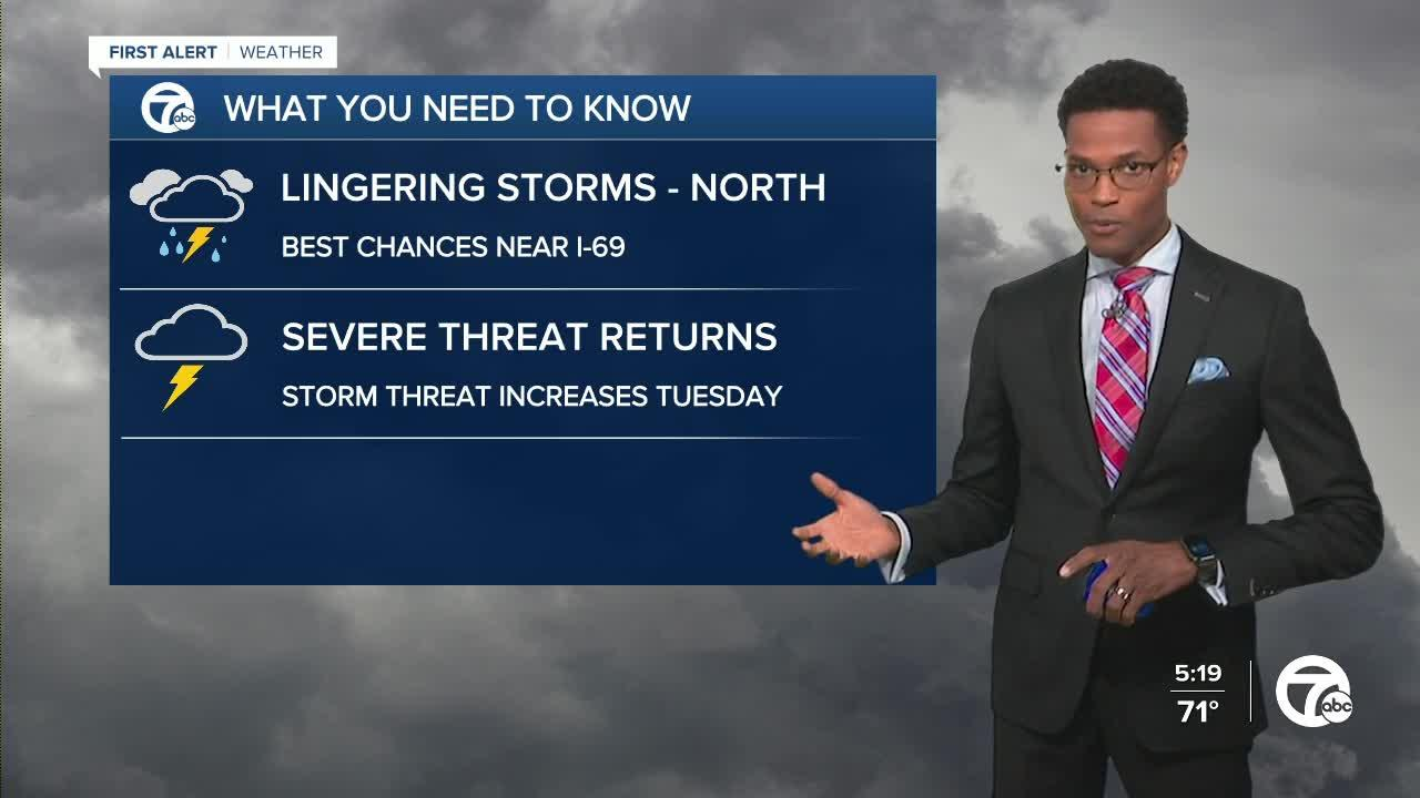 Showers and strong storms in the forecast