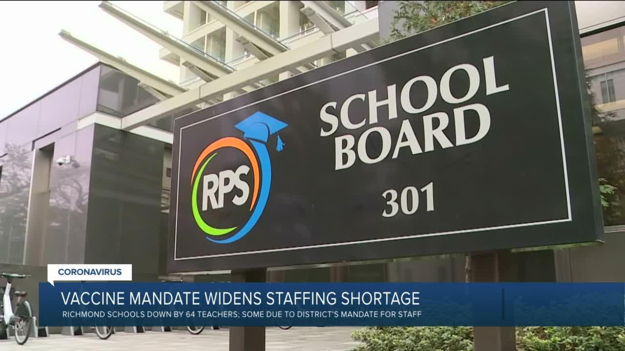 COVID vaccine mandate widens Richmond Schools' staffing shortage