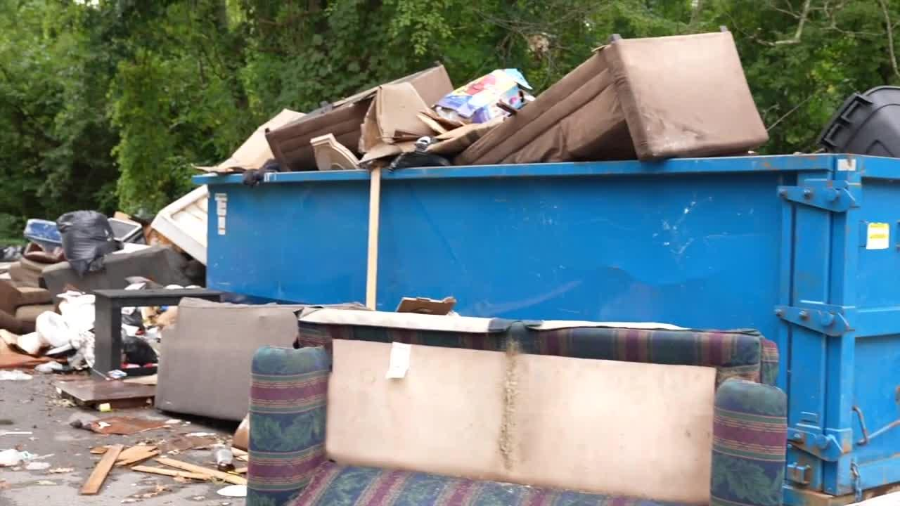 Dumpster overflow at Sycamore Townhomes