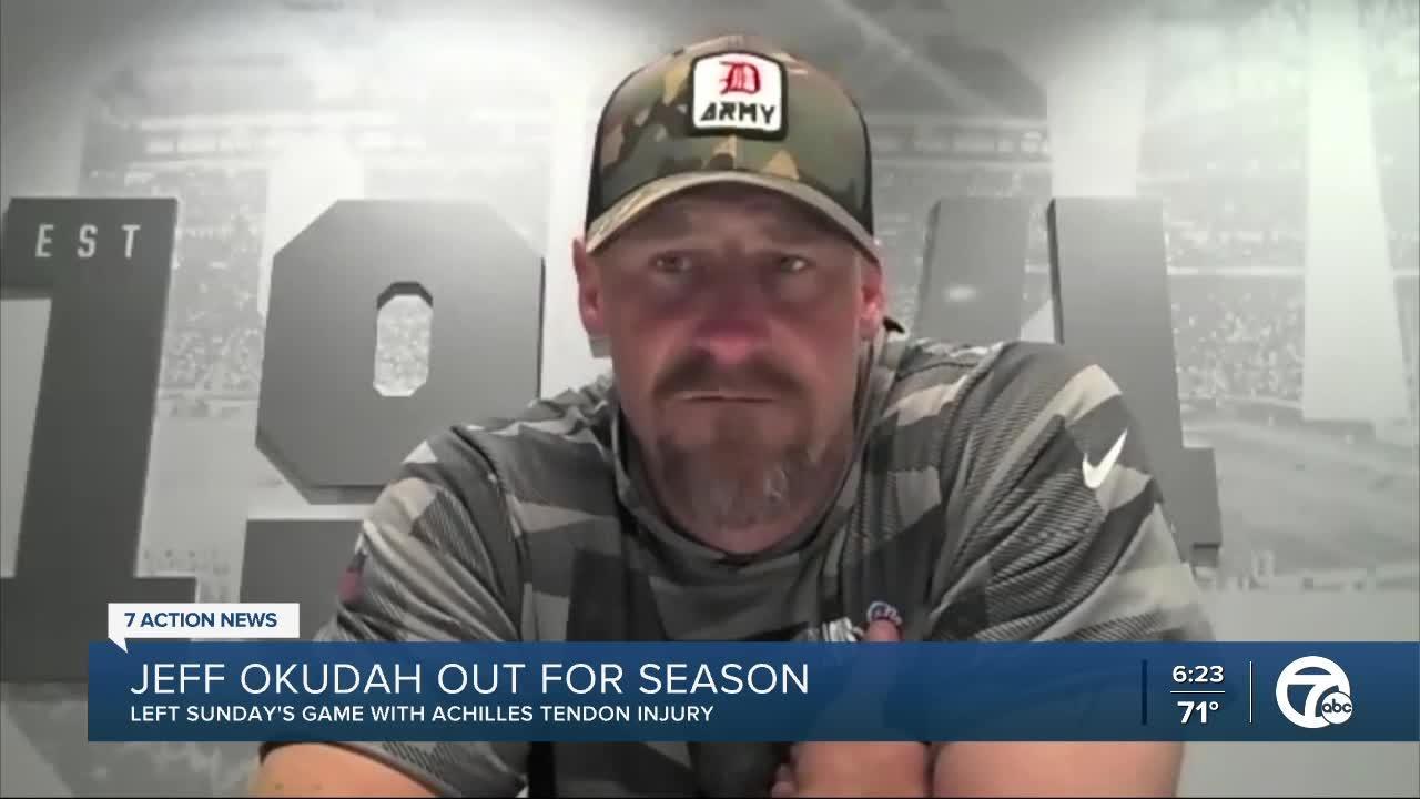 Lions lose Jeff Okudah for season due to Achilles injury