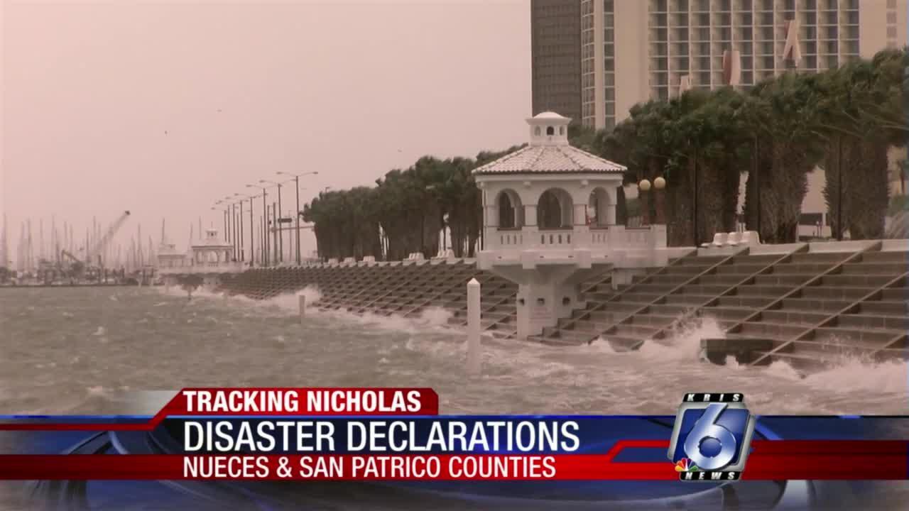 Disaster Declarations for Nueces and San Patricio counties