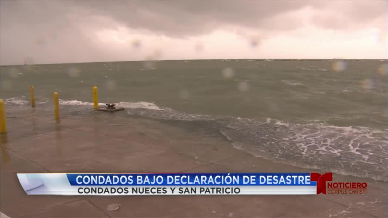 Condados locales bajo declaracion de desastre