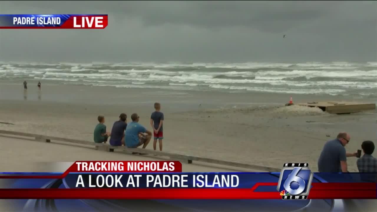 Padre Island conditions 5 p.m.