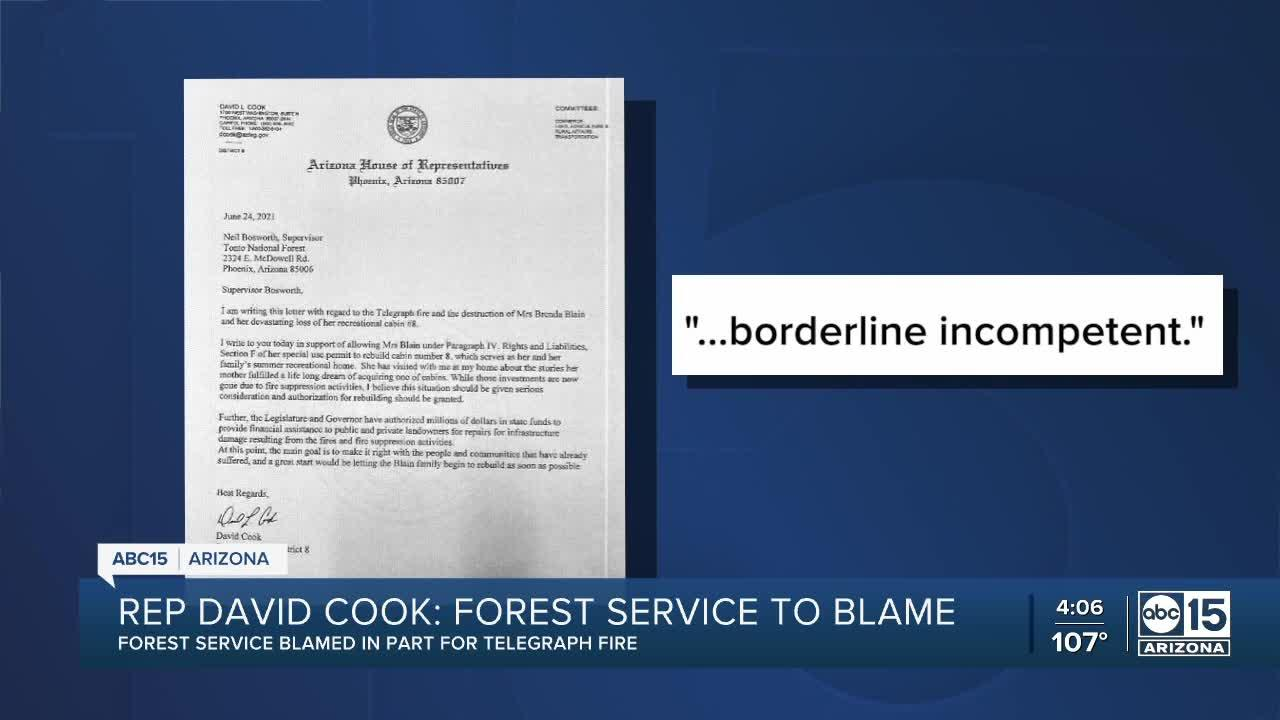 Forest service blames in part for Telegraph Fire