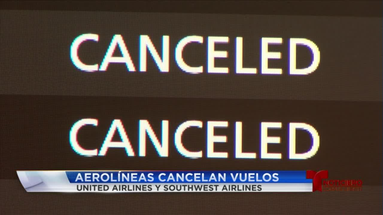 el aereopuerto cancela vuelos