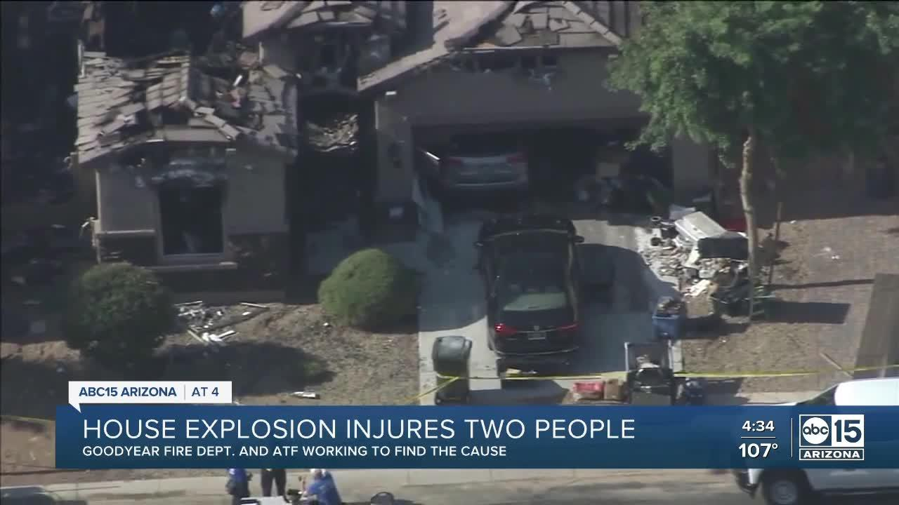House explosion injures two people in Goodyear