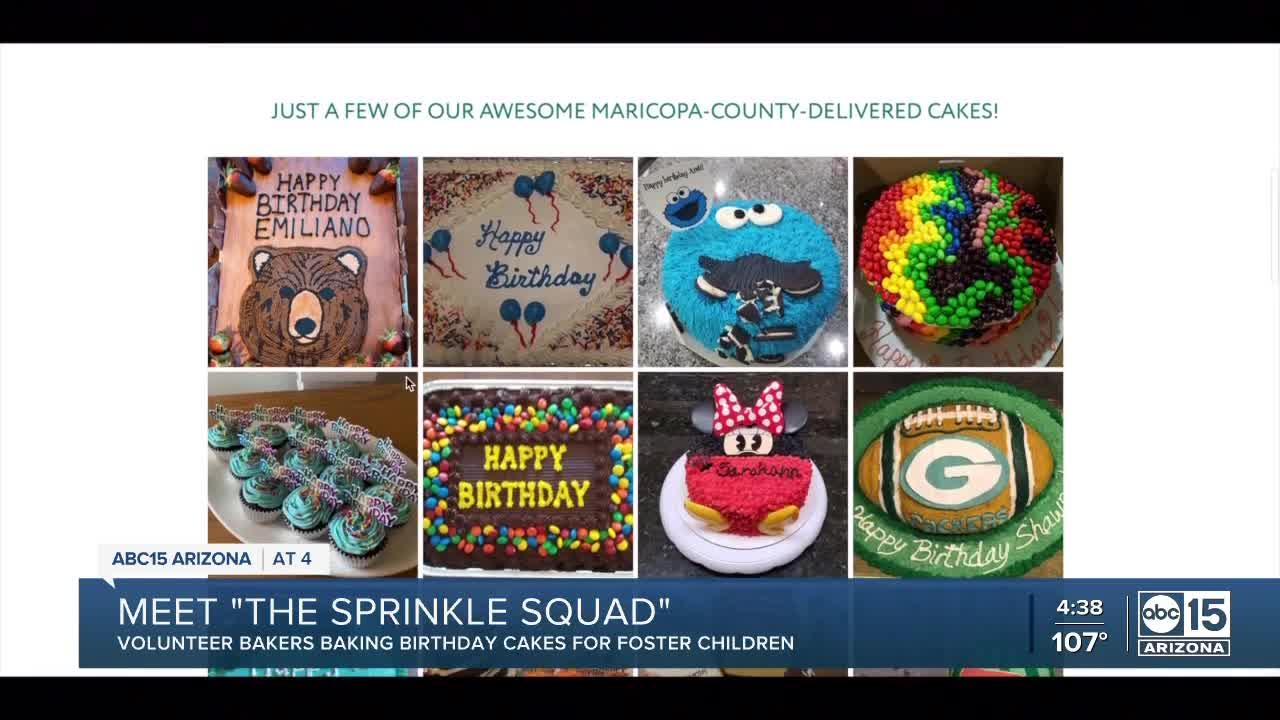'Sprinkle Squad' delivers thousands of birthday cakes to Arizona foster children