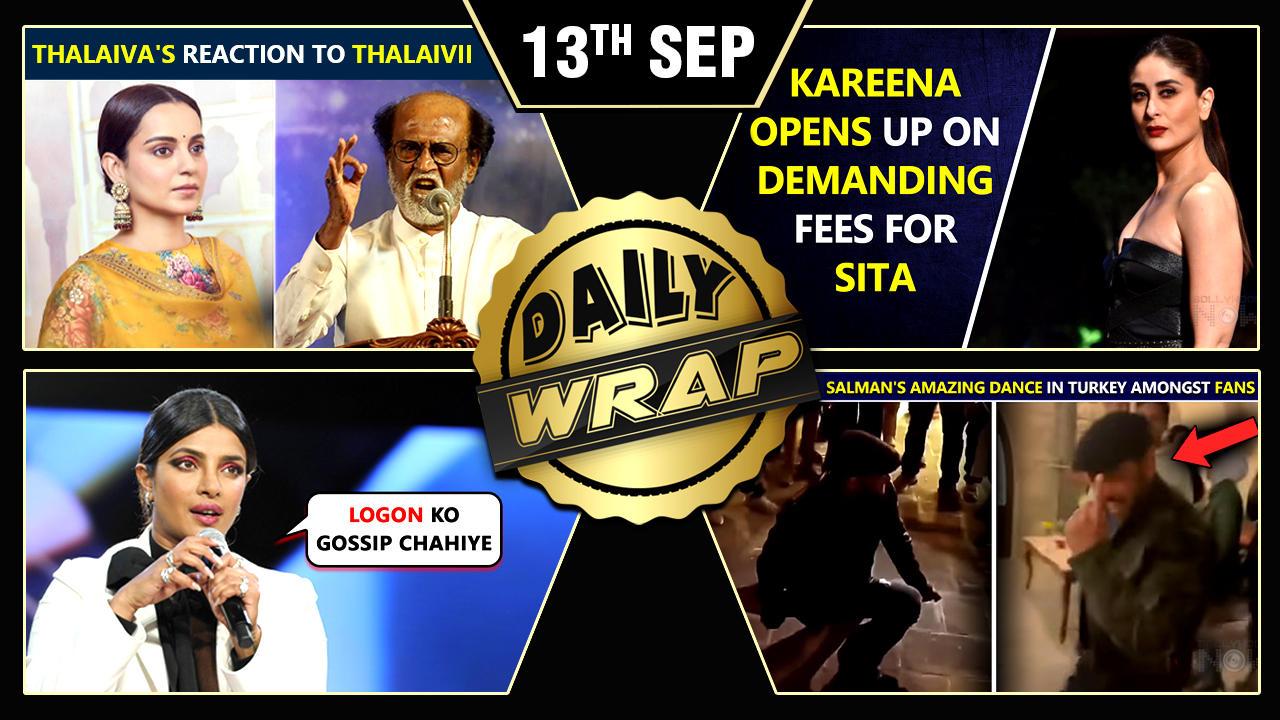 Rajinikanth Praises Kangana's Thalaivii, Sonam Called SHAMELESS, Kareena On 12 Cr Demand|Top 10 News