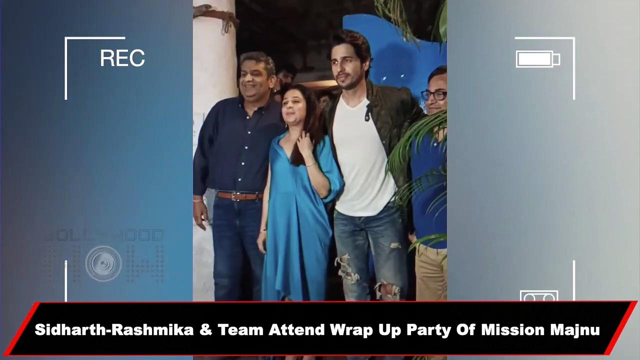 Rashmika-Sidharth The New On-Screen Couple Make A Stylish Appearance At Mission Majnu Wrap Up Party