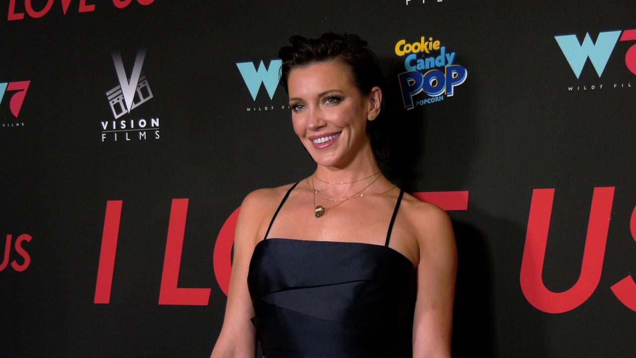 """Katie Cassidy attends the """"I Love Us"""" premiere red carpet in Los Angeles"""