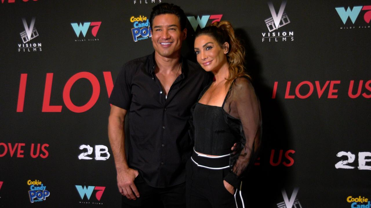 """Mario Lopez, Courtney Lopez attend the """"I Love Us"""" premiere red carpet in Los Angeles"""