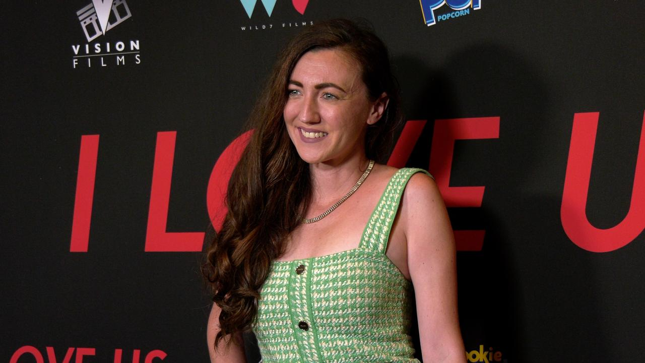 """Amber Martinez attends the """"I Love Us"""" premiere red carpet in Los Angeles"""