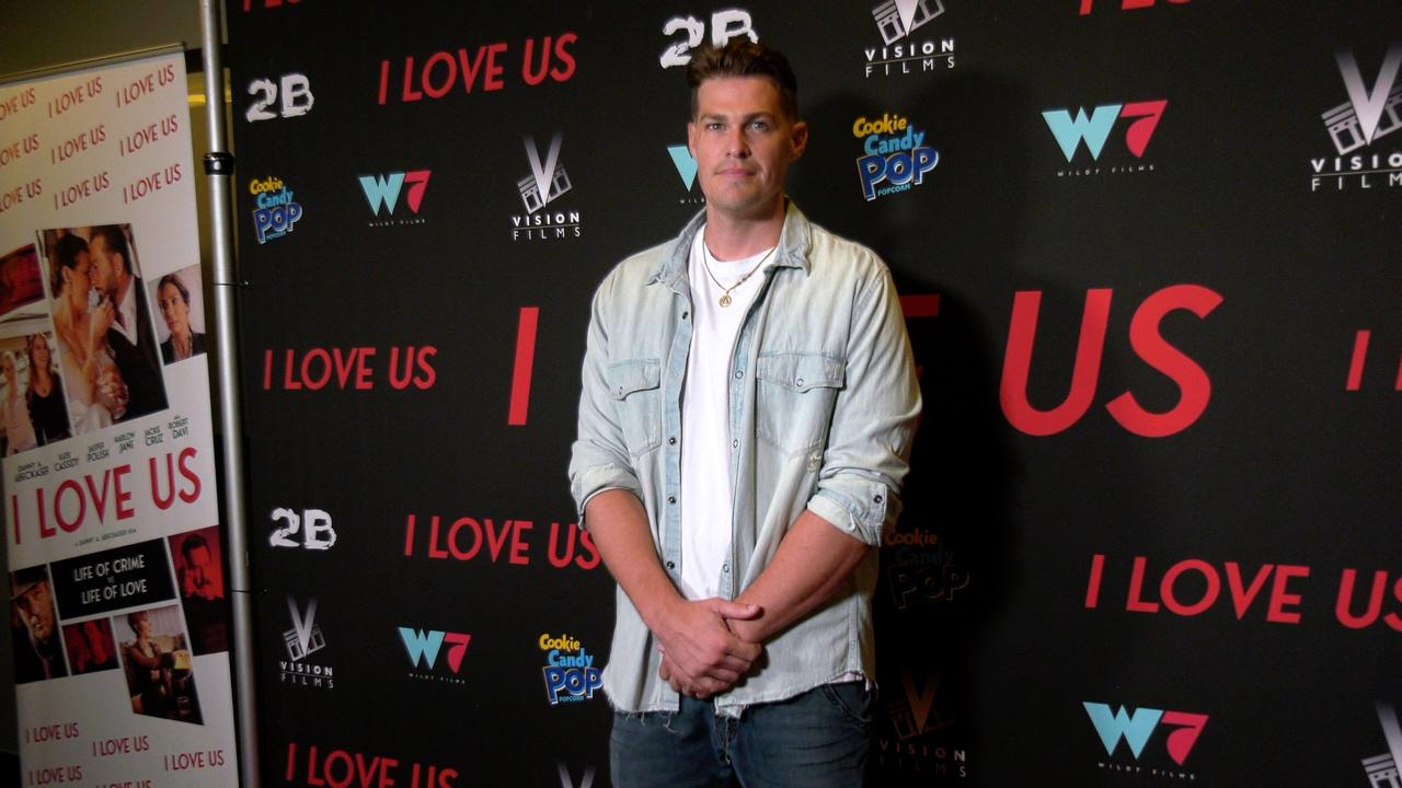 """Greg Finley attends the """"I Love Us"""" premiere red carpet in Los Angeles"""