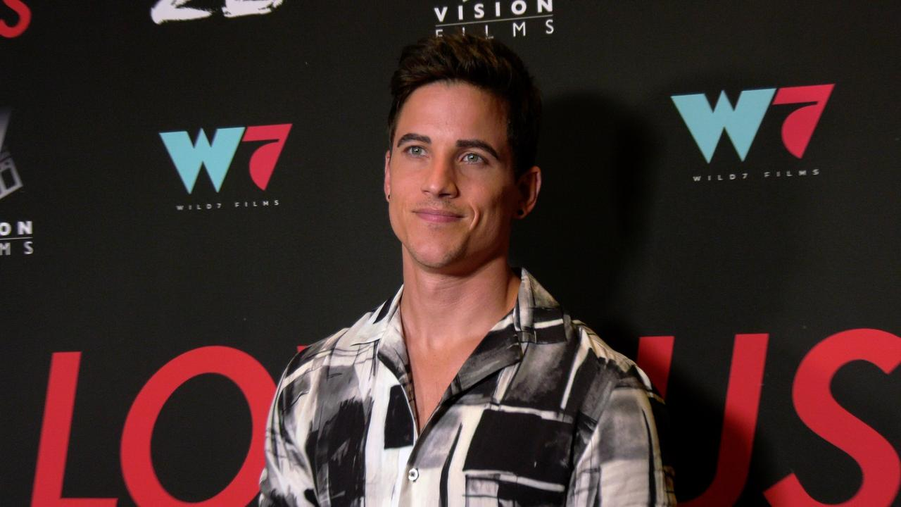 """Mike Manning attends the """"I Love Us"""" premiere red carpet in Los Angeles"""