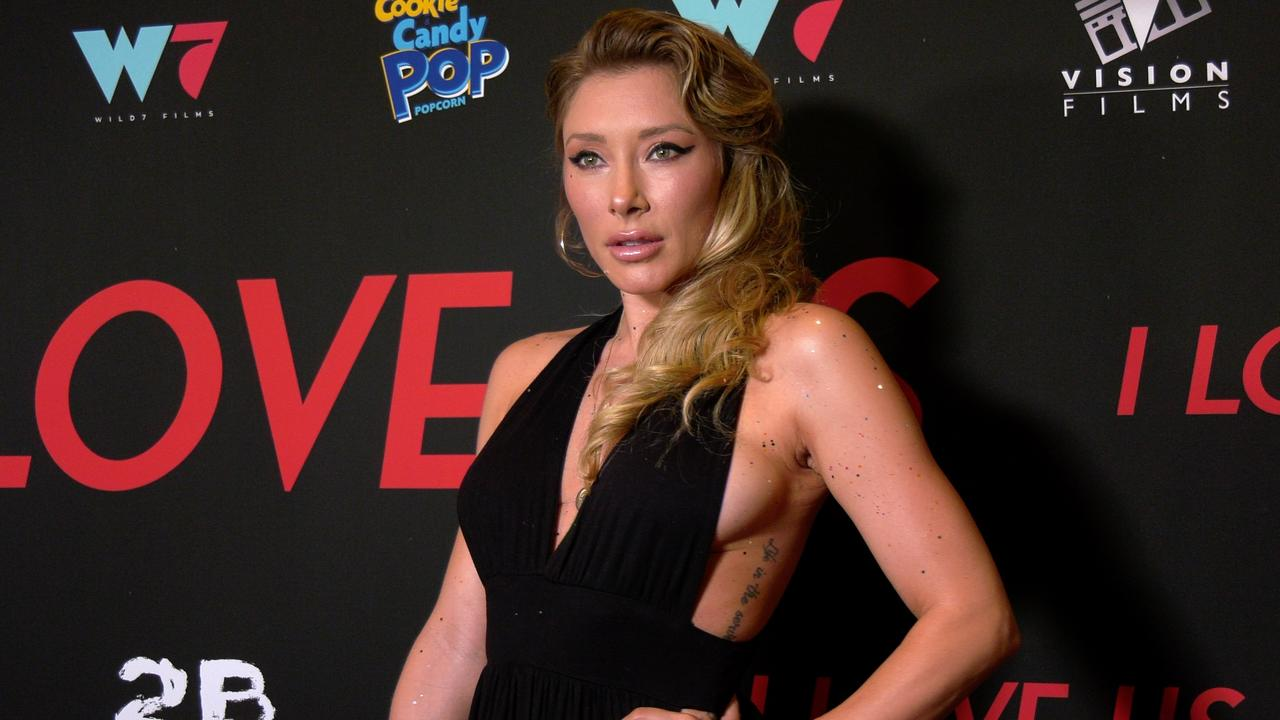 """Alexandra Vino attends the """"I Love Us"""" premiere red carpet in Los Angeles"""