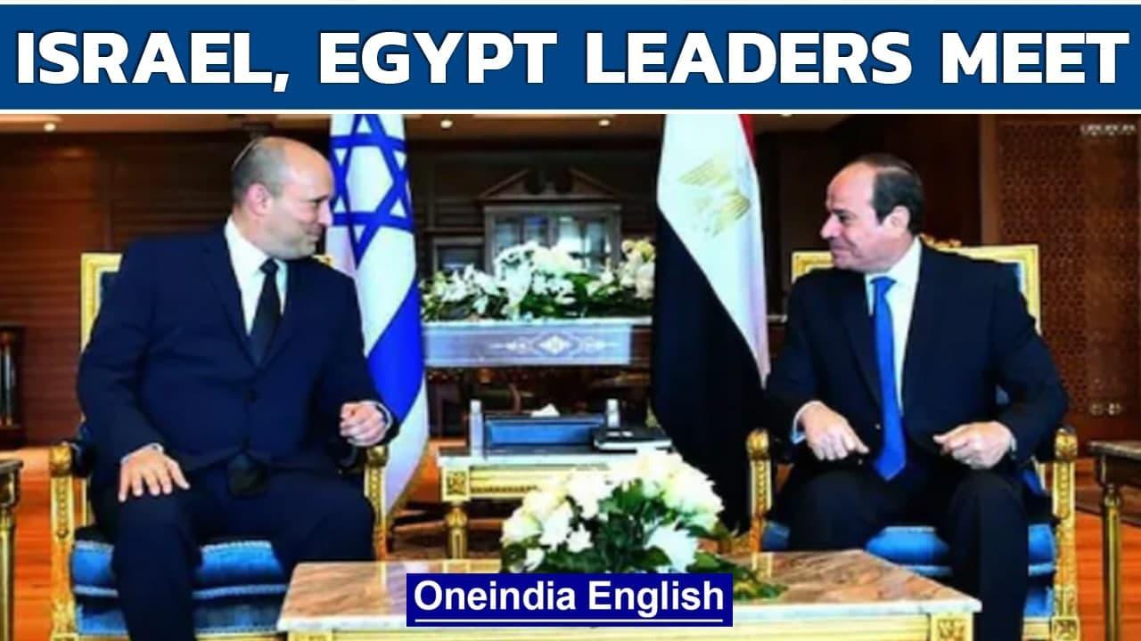 Israel, egypt leaders meet: First visit by Israeli PM in ten years | Oneindia News
