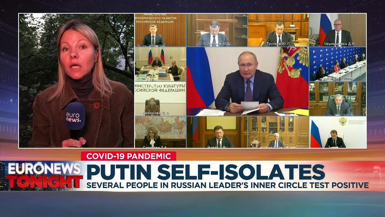 Russia's Vladimir Putin self-isolates after close aides infected with COVID-19