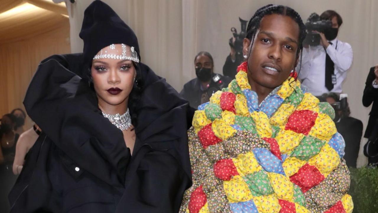 Rihanna & A$AP Rocky Attend The Met Gala Fashionably Late